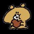 チョコレートを食べる熊