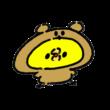 熊の着ぐるみを着たひよこ