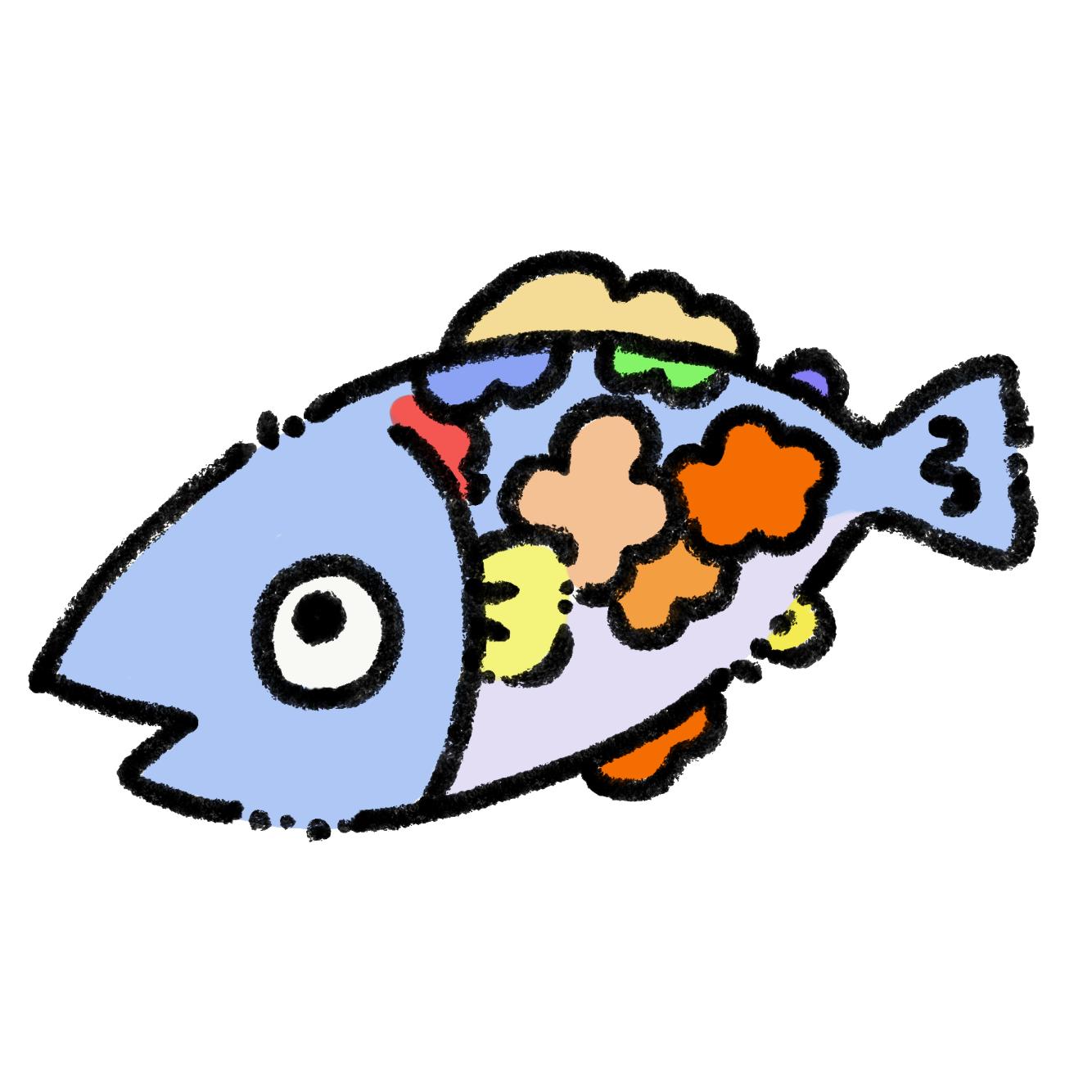 花模様の魚