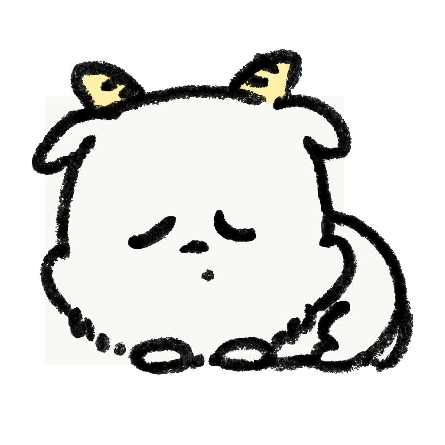 スヤスヤ眠るヤギ