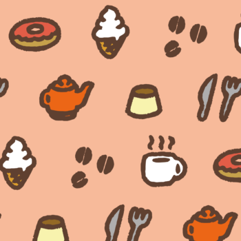 コーヒーとスイーツのカフェっぽい背景