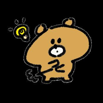 ひらめいて納得する熊
