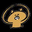 OKサインを送る熊