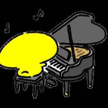 ピアノを弾くひよこ