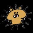 最高級に喜ぶ熊
