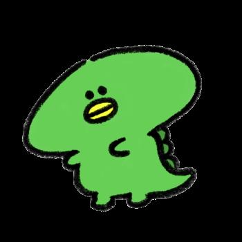 緑色の怪獣
