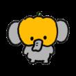 おばけかぼちゃをかぶった象
