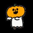 おばけかぼちゃをかぶったおばけ