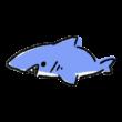 てきとーに描いたサメ