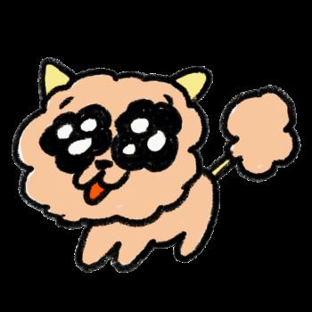 ファンシーな雰囲気の犬