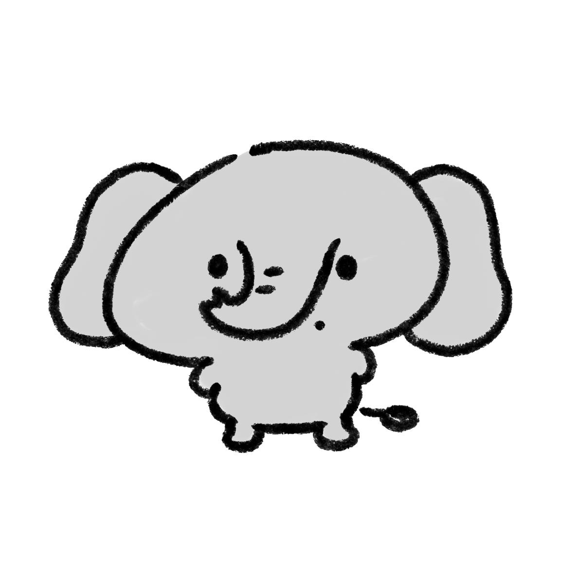 二足歩行の象