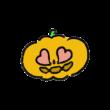 目がハートになってるおばけかぼちゃ