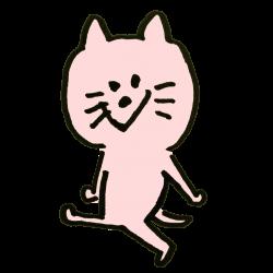 ニヤニヤ笑う猫のイラスト