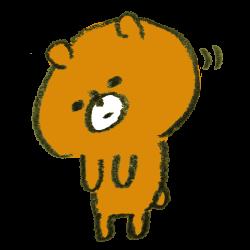 おじぎをする熊のイラスト