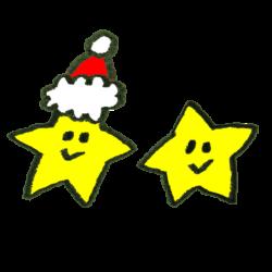 クリスマス気分の星のイラスト