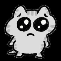 ぴえん顔の猫